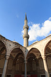 The Blue Mosque Tower and Interior, Istanbul, Turkey. Royalty Free Stock Photos
