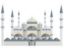 The Blue Mosque. Turkey. Istanbul. Blue Mosque in Istanbul. Turkey. Illustration in a flat style Stock Photography