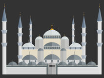 The Blue Mosque. Turkey. Istanbul. Wonders of the world. Blue Mosque in Istanbul. Turkey. Illustration in a flat style Stock Images