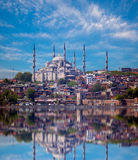 The Blue Mosque view from Bosporus strait (Sultanahmet Camii Stock Photos