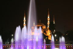 Blue Mosque. A Blue Mosque view in Instanbul, during night Stock Photos