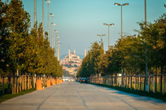 Blue Mosque view Stock Images