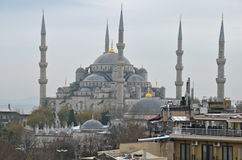 Blue mosque in the winter, Istambul. Stock Image
