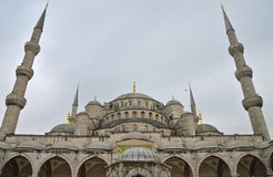 Blue mosque in the winter, Istambul. Royalty Free Stock Photo