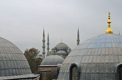 Blue mosque in the winter, Istambul. Royalty Free Stock Image