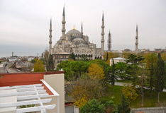 Blue mosque in the winter, Istambul. Royalty Free Stock Photos