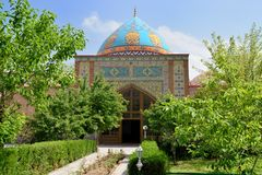 The Blue Mosque in Yerevan, Armenia. The Mosque established in 1765 and reconstructed between 1996 and 1999 by Islamic Republic of Iran stock photos