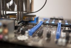 Blue Motherboard Stock Photo
