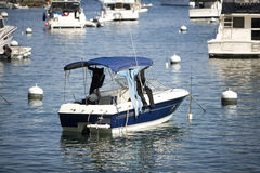 Blue Motor Boat Stock Photos