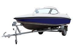 Blue motor boat. Stock Images