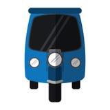 Blue motor rickshaw transport tricycle Royalty Free Stock Photos