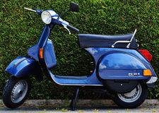 Blue Motor Scooter Px 80 X Stock Images