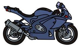 Blue motorbike Stock Image