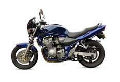Blue motorbike Royalty Free Stock Image
