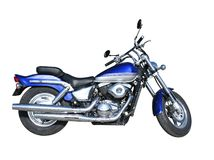 Blue motorcycle Royalty Free Stock Photo
