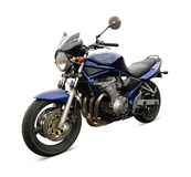 Blue motorcycle Royalty Free Stock Photography