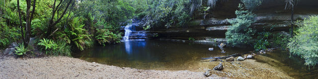 Blue Mount Waterfall Horseshoe Pan Blackheath Royalty Free Stock Images