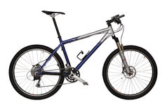 Blue Mountain bike Royalty Free Stock Photo