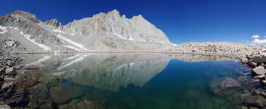 Blue Mountain Lake. In the Williamson Basin reflecting Mount Tyndall and Versteeg Stock Images