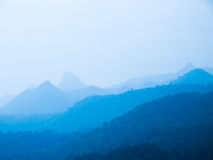 Blue mountain. Landscape abstract background Stock Image