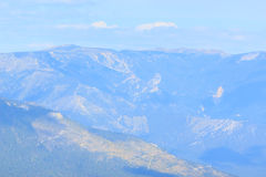 Blue mountain landscape. Crimea. Royalty Free Stock Photography