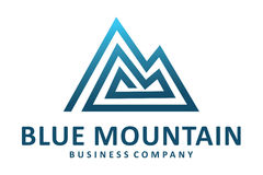 Blue mountain logo Royalty Free Stock Photography