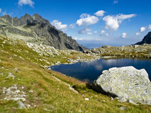 Blue mountain pond. Beauty blue mountain pond in Slovakian Tatra Royalty Free Stock Image