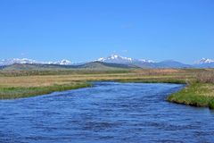 Blue Mountain River. Reservoir in South Park Valley, Colorado stock image