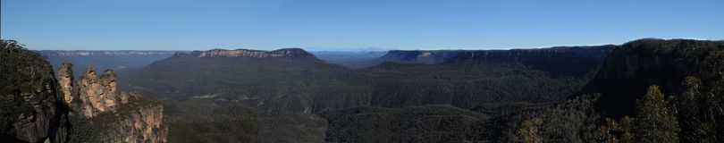 Blue mountains. Photo of blue mountains in Australia Stock Photos