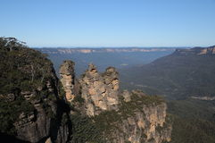 Blue mountains. In Australia. 3 sisters Stock Photos