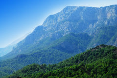 Blue mountains. Vibrant view to mountains in Antalya region. Turkey Royalty Free Stock Image