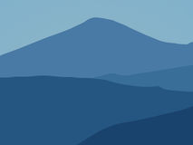 Blue mountains. Blue mountaind. Mountain view (path included royalty free stock image