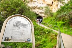 The Entrance of The Jenolan Caves are limestone caves located within the Jenolan Karst Conservation Reserve. stock image
