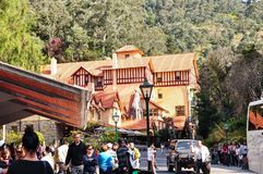 The Jenolan Caves House is a large, heritage-listed hotel, built in stages between 1879 and 1926. Blue Mountains, Australia. – On April 24, 2011 - The royalty free stock photos