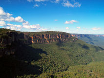 The blue mountains in Australia. Beautiful view in the blue mountains, Katoomba, Australia Stock Photography