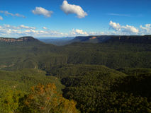 Blue mountains Australia. Beautiful view in the blue mountains, Katoomba, Australia Royalty Free Stock Images