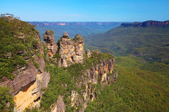 The Blue Mountains in Australia royalty free stock image