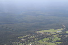 Blue mountains. Birdview of the blue mointains in australia Stock Photography