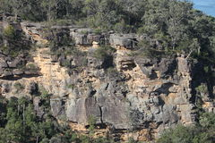 Blue Mountains Cliff Face Stock Image