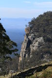 Blue Mountains Cliff Face Royalty Free Stock Photography
