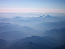 Blue Mountains in the Distance royalty free stock photo