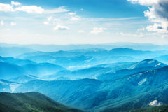 Blue mountains and hills Royalty Free Stock Photography