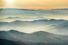 Blue mountains and hills Stock Images