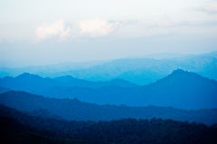 Blue mountains. Layer of blue mountains view from Huai Nam Dang National Park, Thailand Stock Photos