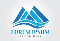 Blue mountains logo vector business id card