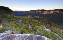 Blue Mountains looking into the 'Grose Valley and Blue Gum Fores Royalty Free Stock Photography