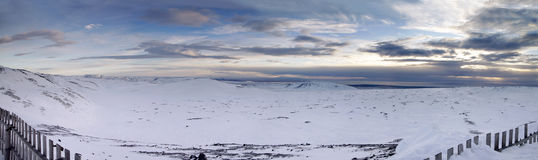 Blue Mountains Panoramic. Blue Mountain ski range, near Reykjavik, Iceland. Large panoramic image Stock Image