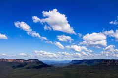 Blue mountains sky. The picture shows the blue sky over the socalled blue mountains in the outskirts of Sydney in NSW, Australia. The mountains are described as Stock Photography