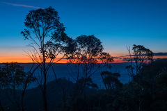 Blue Mountains sunset, New South Wales, Australia Stock Images