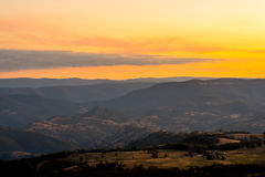 Blue Mountains sunset, New South Wales, Australia Royalty Free Stock Images